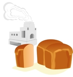 Bread and russian stove vector