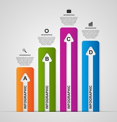 business options infographics Design arrows style vector image