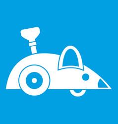 Clockwork mouse icon white vector