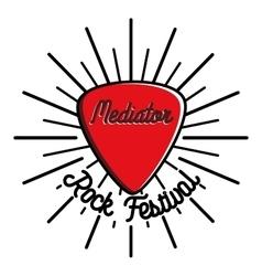 Color vintage rock emblem vector image