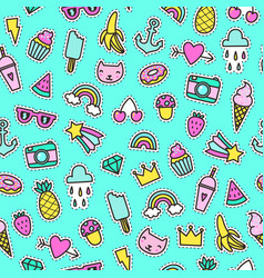 Cute pins seamless pattern vector