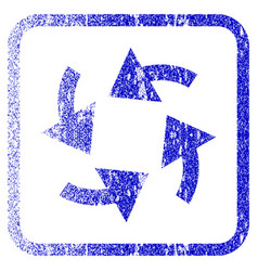 Cyclone arrows framed textured icon vector