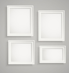 Different picture frames on the wall Place your vector image vector image