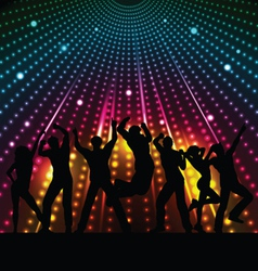 disco lights vector image vector image