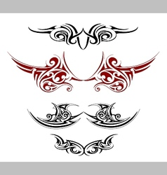 Gothic tattoo as wings shape vector image