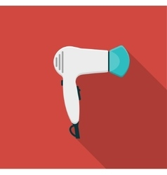 Hairdryer flat icon with long shadows vector