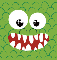Happy monster close up vector