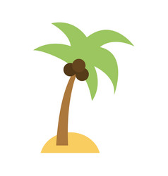 island with palm tree icon image vector image
