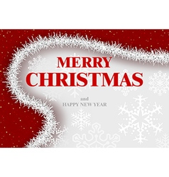 Merry Christmas Greeting vector image vector image