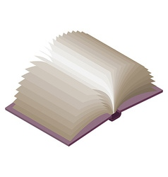 Open book Isometric on white background Paging vector image
