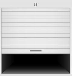 Open roller shutter safe garage door vector