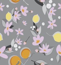 Oranges and lemon seamless pattern vector