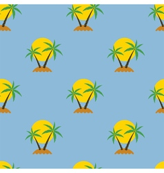palm tree travel background vector image