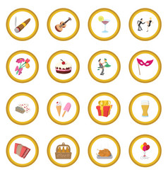 Party icon circle vector