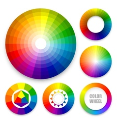 Set of color wheels vector image vector image
