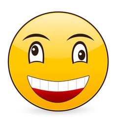 smile emoticon vector image vector image