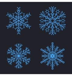 Snowflakes Set for christmas winter design vector image