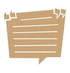 Speech bubble cut out of craft paper vector