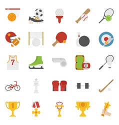 Sport icons flat design vector