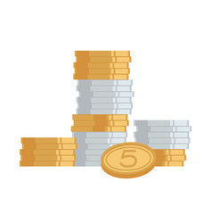 stack of coins money icon vector image