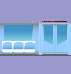 Subway interior vector