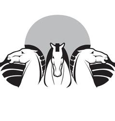 three horses vector image