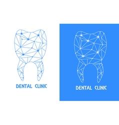 Tooth polygon outline logo vector