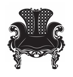 Vintage baroque armchair vector