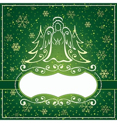 Winter green card vector image vector image