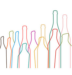 with bottles of alcohol vector image vector image
