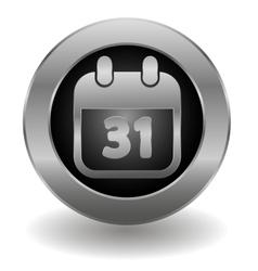 Metallic calendar button vector image