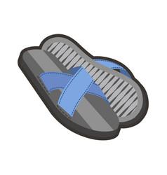 Gray male flip-flops vector