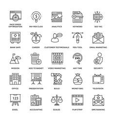 Web design icons 4 vector