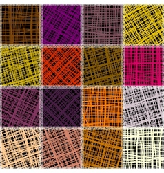 Patchwork of canvas vector