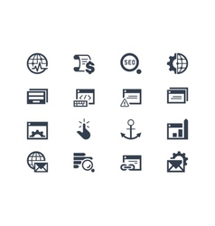 Seo search engine optimization icons vector
