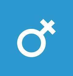 Female symbol icon white on the blue background vector