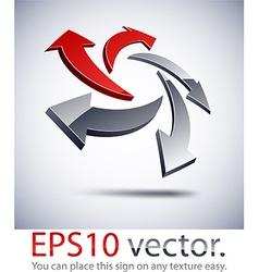 3d modern arrows logo icon vector