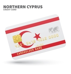 Credit card with northern cyprus flag background vector