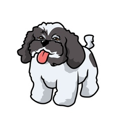 Poodle panting vector