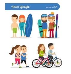 Active lifestyle people vector