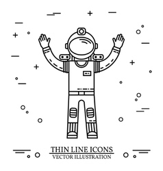 Astronaut in space human mission to mars vector