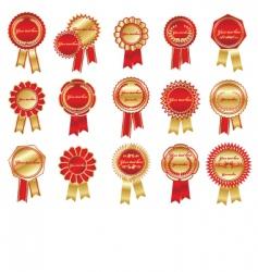 award rosettes vector image