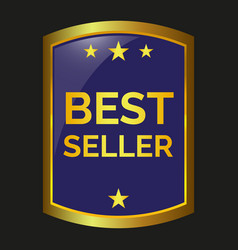 best seller label vector image vector image