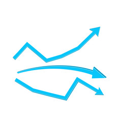 Blue indication arrows vector