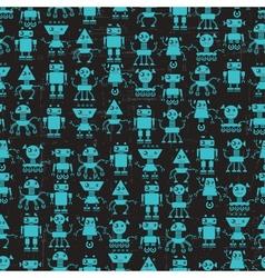 Cartoon robots seamless pattern vector
