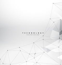 clean geometrical shapes technology background vector image vector image