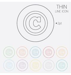 Copyright sign icon Copyright button vector image