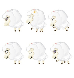 Cute chibi sheep4 vector