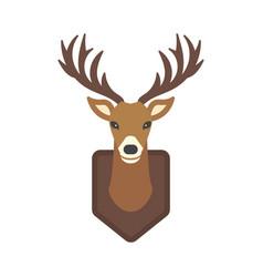 deer head wild silhouette mammal reindeer wildlife vector image