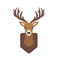 Deer head wild silhouette mammal reindeer wildlife vector